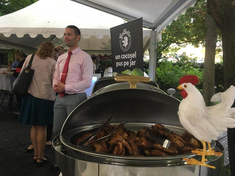 Catering la evenimente - Cocoșel rumenit pe jar - Galletto Ristorante
